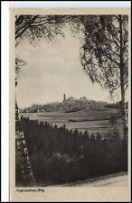 Augustusburg Sachsen DDR Postkarte ~1955 Erzgebirge Panorama zur Burg gelaufen