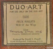 WILL O' THE WISP LISZT DUO-ART RECUT REPRODUCING PIANO ROLL