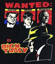 Vintage Mens L 1990 Dick Tracy Wanted FlatTop Big Boy Pruneface Disney T-Shirt