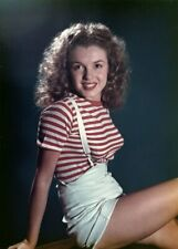Marilyn Monroe Young Norma Jean Baker  Color 8x10 Glossy Photo