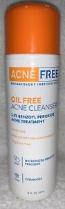 AcneFree Oil Free ACNE CLEANSER Fragrance Prevent Helps 8 oz/237mL New EXP 03/20