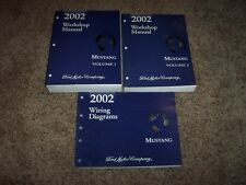 2002 Ford Mustang Shop Service Repair Manual Coupe Convertible GT 3.8L 4.6L V8