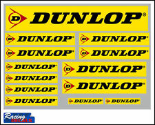Dunlop Tyres Stickers/Decals - 13 High Quality Printed and Cut Stickers