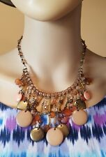 Premier designs jewelry necklace peach beads dangles