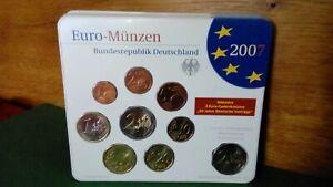 Kursmünzen Satz BRD 2007- A - inkl 2 Euro Gedenkmünze 50 Jahre römische Verträge