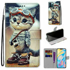 3D Cat Flip Wallet Phone Case For Samsung S8 S9 S10 S20 S21 Note 20 A01 A30 A21