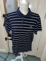 MENS LACOSTE Blue StripPOLO T-SHIRT SIZE XL 100% AUTHENTIC GREAT CONDITION