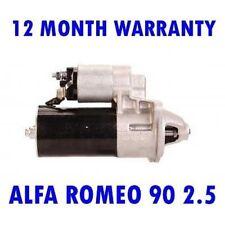 Alfa Romeo 90 2.5 Sedán V6 1984 1985 1986 1987 Motor de Arranque