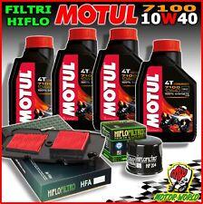 KIT TAGLIANDO OLIO MOTUL 7100 10W40 + FILTRI HIFLO HONDA XL 700 Transalp 2012