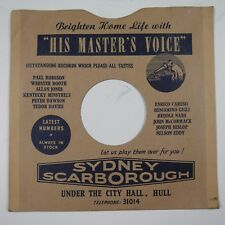"10"" 78rpm gramophone record sleeve SYDNEY SCARBOROUGH city hall hull"