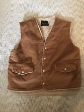 VTG Lakeshire Heavy Vest Light Brown  Corduroy with Sherpa Lining