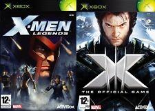 X Men Legends & X men 3 le jeu officiel & 4 Fantastiques-XBOX Original PAL