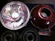 coppia fari fanali head lamps pair fiat 500 F L Carello*
