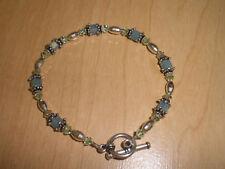 Pacific Opal & Chrysolite Swarosvki Crystal Bracelet