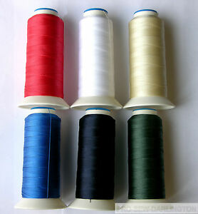 NYLON STRONG HEAVY DUTY SEWING THREAD 40s ( CHOICE OF 13 COLOURS )