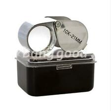 Magnifier Magnifying Glass 10 x 21mm Jewelers Eye Loupe Loop New /