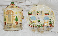 COOKIE JAR AND PLATE, BELLA CASA BY GANZ, NEW, COLLECTIBLE, WEDDING, GIFT