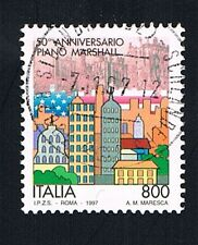 ITALIA 1 FRANCOBOLLO PIANO MARSHALL 1997 usato (BI2530)