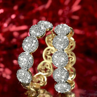 18k yellow gold gf huggies made with Swarovski crystal earrings luxury hoop
