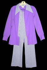 Sz S Women's Vintage 1970s Polyester Pants Suit Miss Chris of California 2-Piece