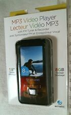 "Ematic Em208vid 8 Gb Black Flash Portable Media Player - 1.8"" Display -- NEW!"