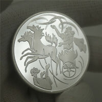 Israel Bible The prophet of Elijah In The Wind Silver Token Coin Collectible
