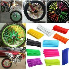 72Pcs Set Universal Motocross Dirt Bike Enduro Wheel Rim Spoke Wraps Skins Cover