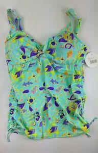 Prego Paisley Twist Tankini, Multicolor, Women's XL