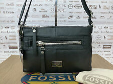 FOSSIL Ladies DAWSON Bag Black Leather Handbag Shoulder Crossbody Bags RRP£109