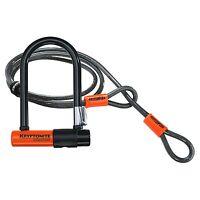 Kryptonite Evolution Mini 7 Lock With 4ft Kryptoflex Cable & FlexFrame Bracket