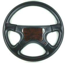 Genuine Italvolanti Prestige 380mm black leather and wood steering wheel.     7C
