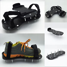 Lawn Aerating Spiked Shoes | Grass Aerator Sandals Adjustable Straps