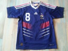 MAILLOT FOOT ADIDAS EQUIPE DE FRANCE FFF N°8 GOURCUFF TAILLE 10 ANS TBE