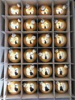 24 Weihnachts/ Christbaumkugeln 8cm Durchmesser Gold