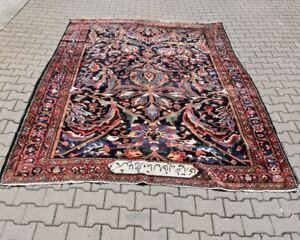 g78b07- Alter Teppich, signiert, Maße: 310x216 cm, Gewicht: 20 kg