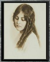 Gorgeous...  Early 1900's Beautiful Woman, Curls... Antique 5x7 Photo Print