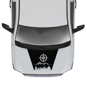 Sticker Kit Modern Hood Stripes for Toyota Tundra design Turbo 2016 2017 2018