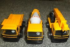NOS Set of 3 Buddy L Construction Vehicles, pressed steal and plastic, 80s, MINT
