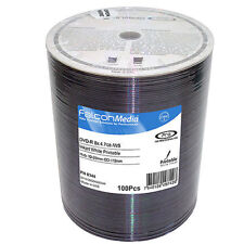 100 x Falcon Media Duplication DVD-R 4.7GB 16x  White Inkjet in shrink