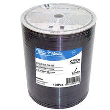 100 Falcon medios DVD + R DL Blanco Térmico Imprimible 8x 8.5 GB de doble capa retráctil