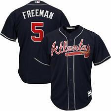 FREDDIE FREEMAN ATLANTA BRAVES YOUTH MEDIUM 10/12 NAVY MLB BOYS JERSEY