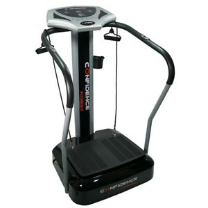 Confidence Fitness Whole Body Vibration Plate Trainer Machine with Arm Straps