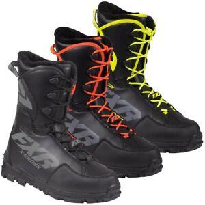 FXR Men's X-Cross Pro Speed Lace Snowmobile Boots - Black Ops, Orange, or Hi-Vis