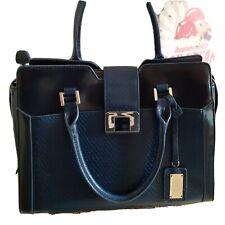 Butterfly Navy Tote Handbag