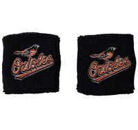Brand New Baltimore Orioles Wristbands Sweatbands Two Pack Black MLB