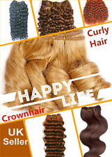 """8""""2pcs 12"""" 14"""" 18"""" Curly Hair 100% Human Hair Weave Weft Extensions Multi-Color"""