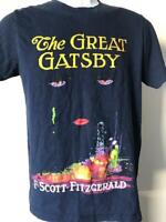 the GREAT GATSBY Tee Shirt Blue F. Scott Fitzgerald Navy Hipster t-shirt english