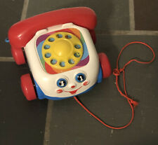 Fisher-Price Chatter Telephone Pull-Along Play Phone Eyes Roll Up and Down