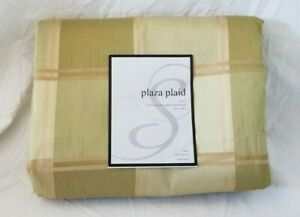 "4 pc Plaza Plaid Lined Rod Pocket Panels with Back Tab (One Pair) 110"" x 84"" NIP"