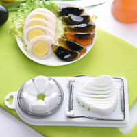 2 in 1 Egg Slicer Section Cutter Divider Plastic Egg Splitter Kitchen Gadget